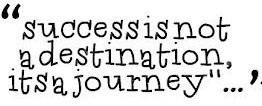 succes is een reis