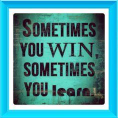 soms win je soms leer je